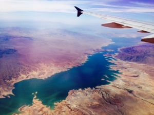 Colorado River viewed from a plane