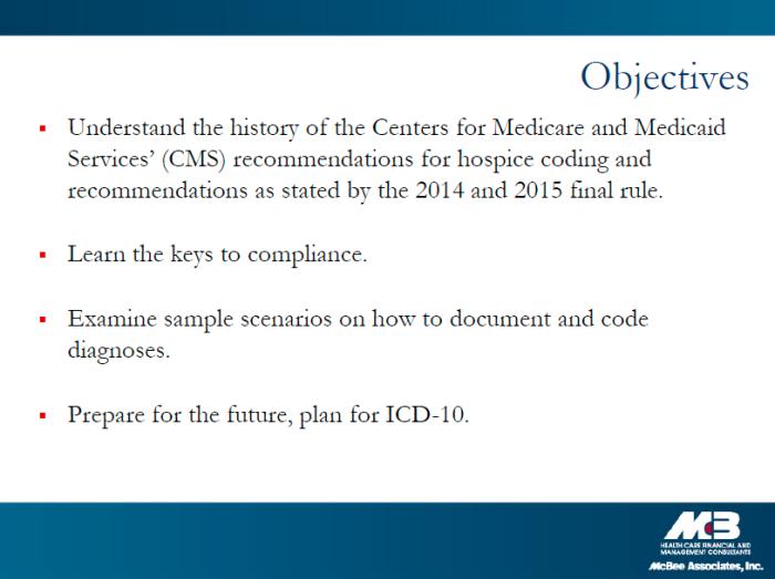 HCCA webinar agenda