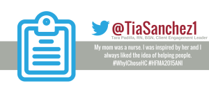#WhyIChoseHC tweet from a nurse consultant