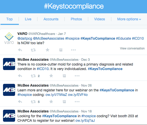 #KeysToCompliance tweets