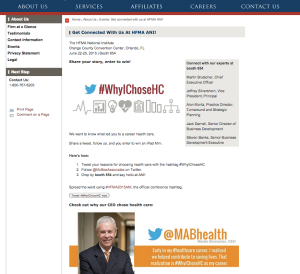 #WhyIChoseHC and event landing page