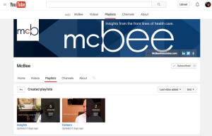 McBee's YouTube channel