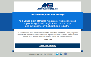 Survey sent to clients before rebrand